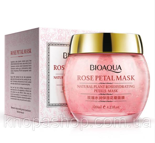 Ночная крем маска роза. Bioaqua Rose Petal Mask  120мл