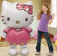 Воздушный шар из фольги Хеллоу Китти(Hello Kitty), высота 116 см, фото 1