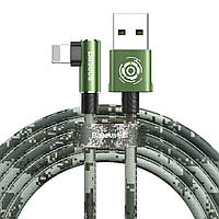 Кабель USB Baseus Camouflage mobile game to Lightning 2m, Green (CALMC-B06), фото 1