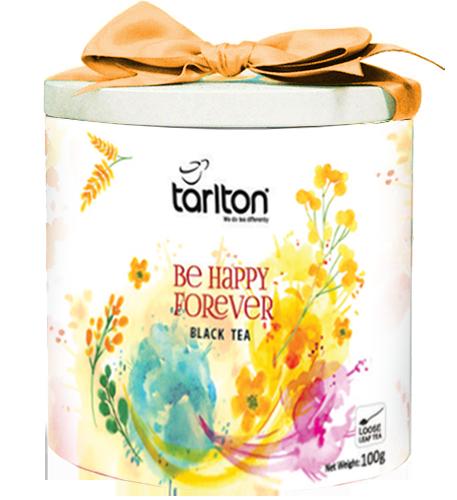 Чай чёрный Tarlton Be Happy Forever Счастье 100г ж/б