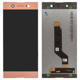 Дисплей (экран) для Sony G3223 Xperia XA1 Ultra Dual с сенсором (тачскрином) розовый Оригинал