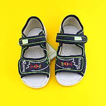 Босоножки тапочки на мальчика с машинкой детская текстильная обувь тм Waldi р.29