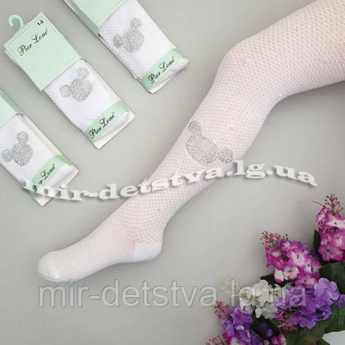 Белые ажурные колготки для девочек оптом, Турция ТМ PIER LONE р.5-6 лет (110-116 см)