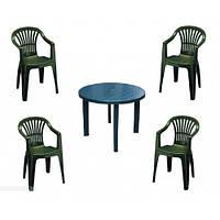 Комплект мебели Tondo green (кресло Altea - 4 шт, стол Tondo - 1 шт), фото 1
