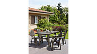 Комплект пластиковой мебели стол Intrecciato +4 креслабронза, фото 1