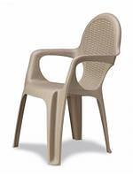 Пластикове крісло Intrecciato бежеве, фото 1