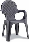 Пластикове крісло Intrecciato антрацит
