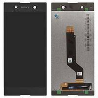 Дисплей (экран) для Sony G3221 Xperia XA1 Ultra Dual с сенсором (тачскрином) черный, фото 2