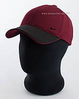 Мужская бейсболка цвета бордо с черным козырьком Nike, лакоста шестиклинка