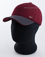 Бейсболка оптом цвета бордо с серым козырьком Nike, лакоста шестиклинка