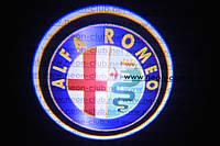 Подсветка дверей авто / лазерная проeкция логотипа Alfa Romeo | Альфа Ромео