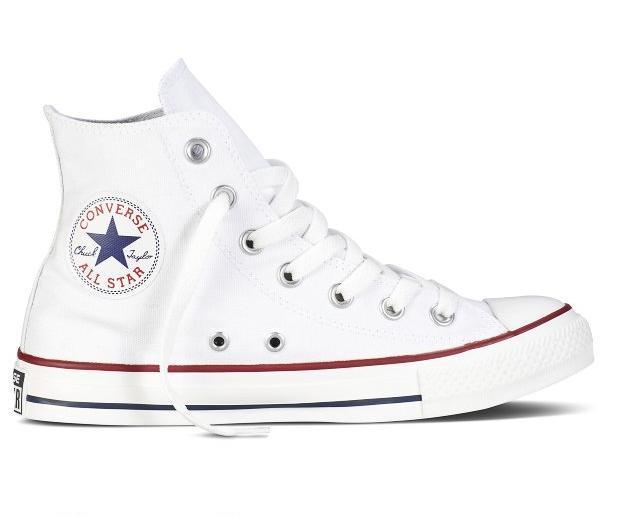 Кеды Converse All Star высокие Replica (реплика) белые New Styles