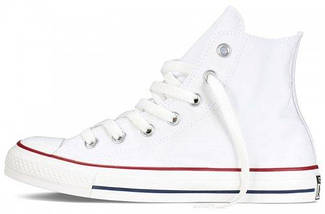 Кеды Converse All Star высокие Replica (реплика) белые New Styles, фото 2