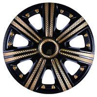 Колпаки для дисков Star DTM super black gold, R14, комплект 4 шт
