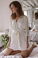 Шикарный халат с кружевом Anabel Arto (шампань) Размер 42, фото 1