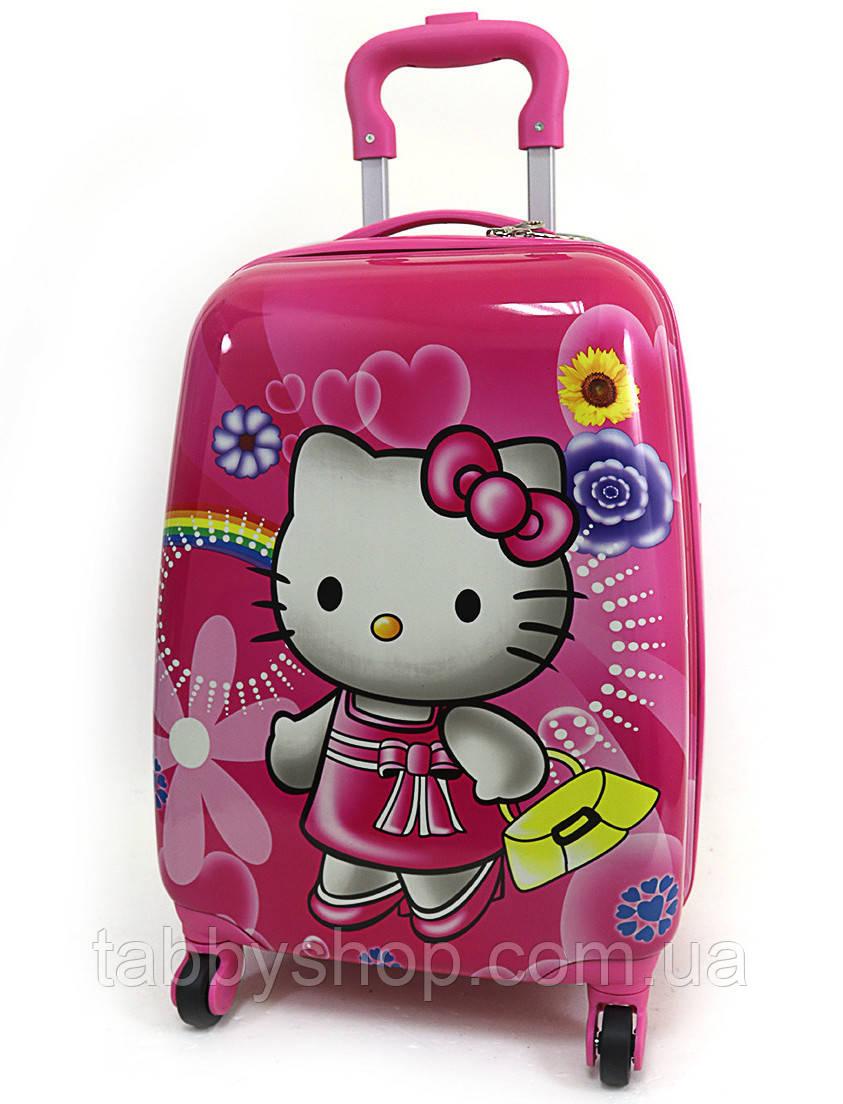 "Чемодан детский на 4 колесах ""Hello Kitty"" L 16"""