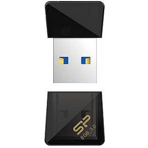 Флеш USB SILICON POWER Jewel J08 8GB USB 3.0 Black (SP008GBUF3J08V1K), фото 2
