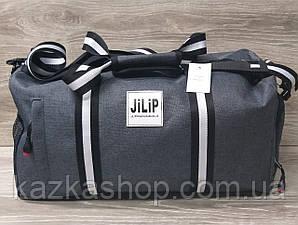 Дорожная сумка хорошего качества, среднего размера 45х25х20 см, плотный материал