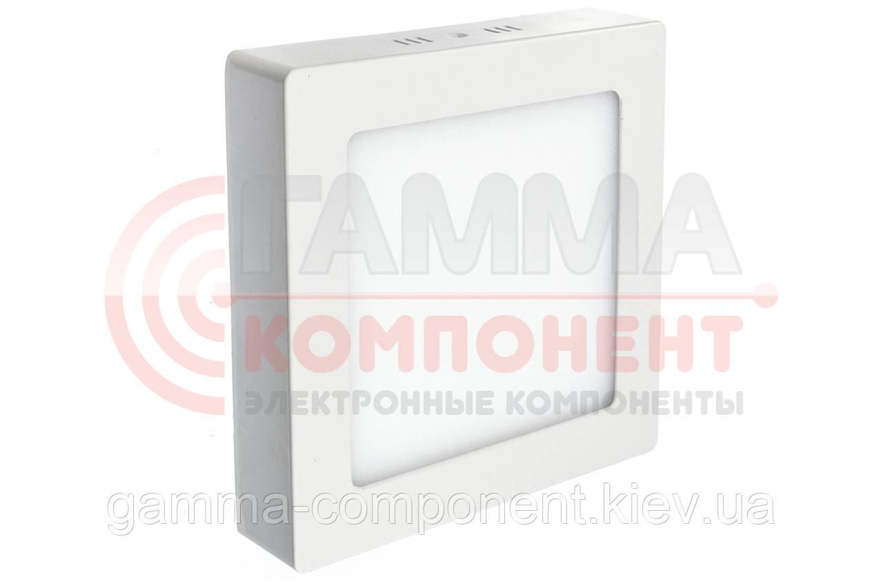 Светодиодный светильник настенно-потолочный Premium 18Вт, квадратный, белый, IP20