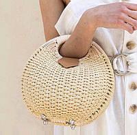 Женская соломенная сумка-улитка