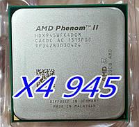 МОЩНЫЙ ТОПОВЫЙ Процессор AMD SAM3, Am2+ на 4 ЯДРА- PHENOM II X4 945 95W !!! ( 4 по 3.0 Ghz каждое ) am3, SAM2+