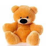 Якісна м'яка іграшка ведмедик 45 см медовий колір сидячий, фото 4