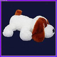 Мягкая игрушка собачка 55 см белый цвет