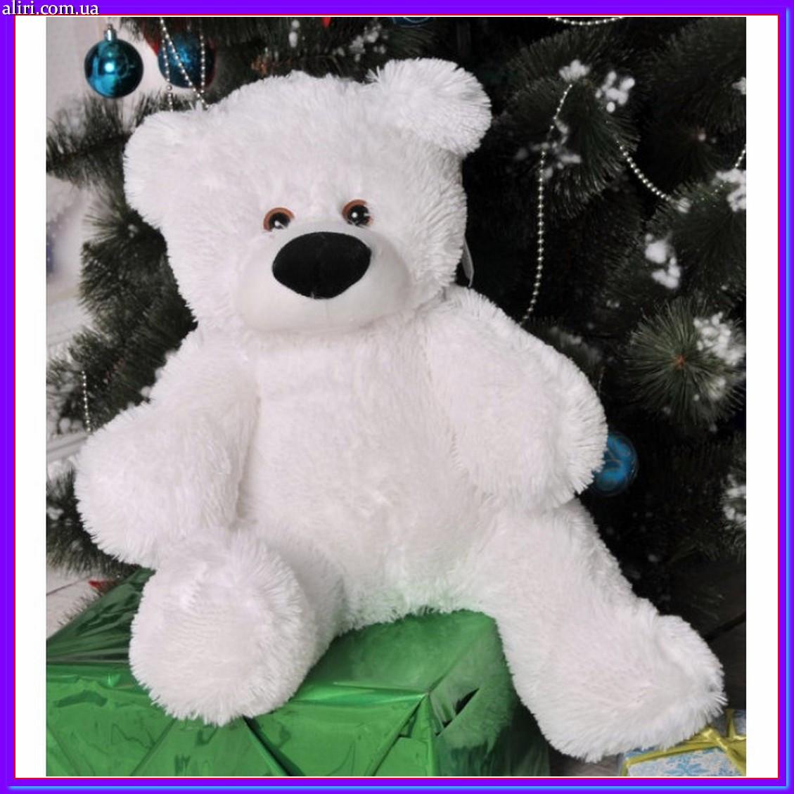 Милый сидячий мишка бублик мягкая игрушка 55 см белый