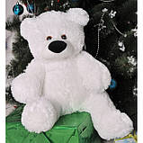 Милый сидячий мишка бублик мягкая игрушка 55 см белый, фото 2