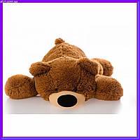 Милый лежачий мишка умка мягкая игрушка 55 см коричневый
