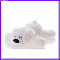 Милый лежачий мишка умка мягкая игрушка 55 см белый
