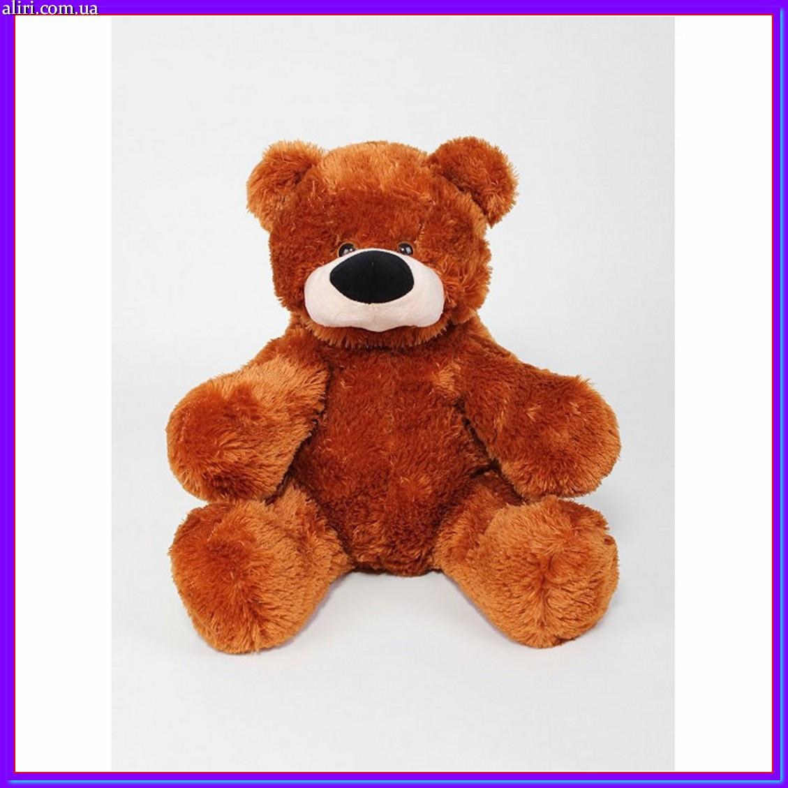 Милый сидячий мишка бублик мягкая игрушка 55 см коричневый