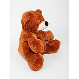 Милый сидячий мишка бублик мягкая игрушка 55 см коричневый, фото 3
