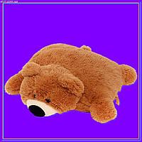 Декоративная детская подушка мягкая игрушка мишка коричневый 45 см