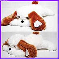 Большая мягкая игрушка плюшевая собачка 65 см белый цвет, фото 1