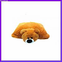 Декоративная детская подушка-трансформер мишка медовый 55 см