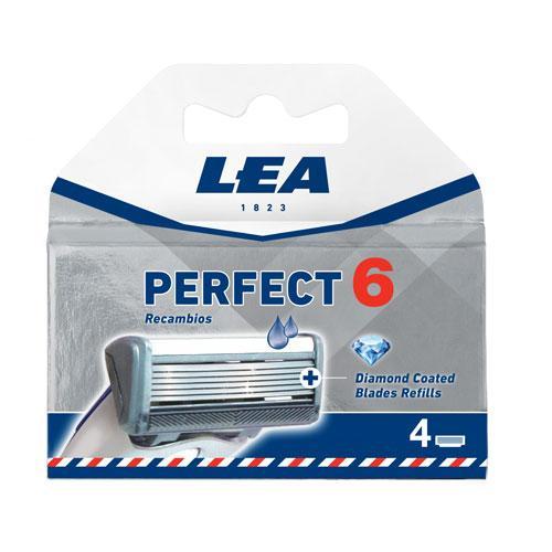 Сменные кассеты для бритвы LEA Perfect 6 4 шт.