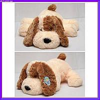 Большая мягкая игрушка Собака 110 см персиковый цвет