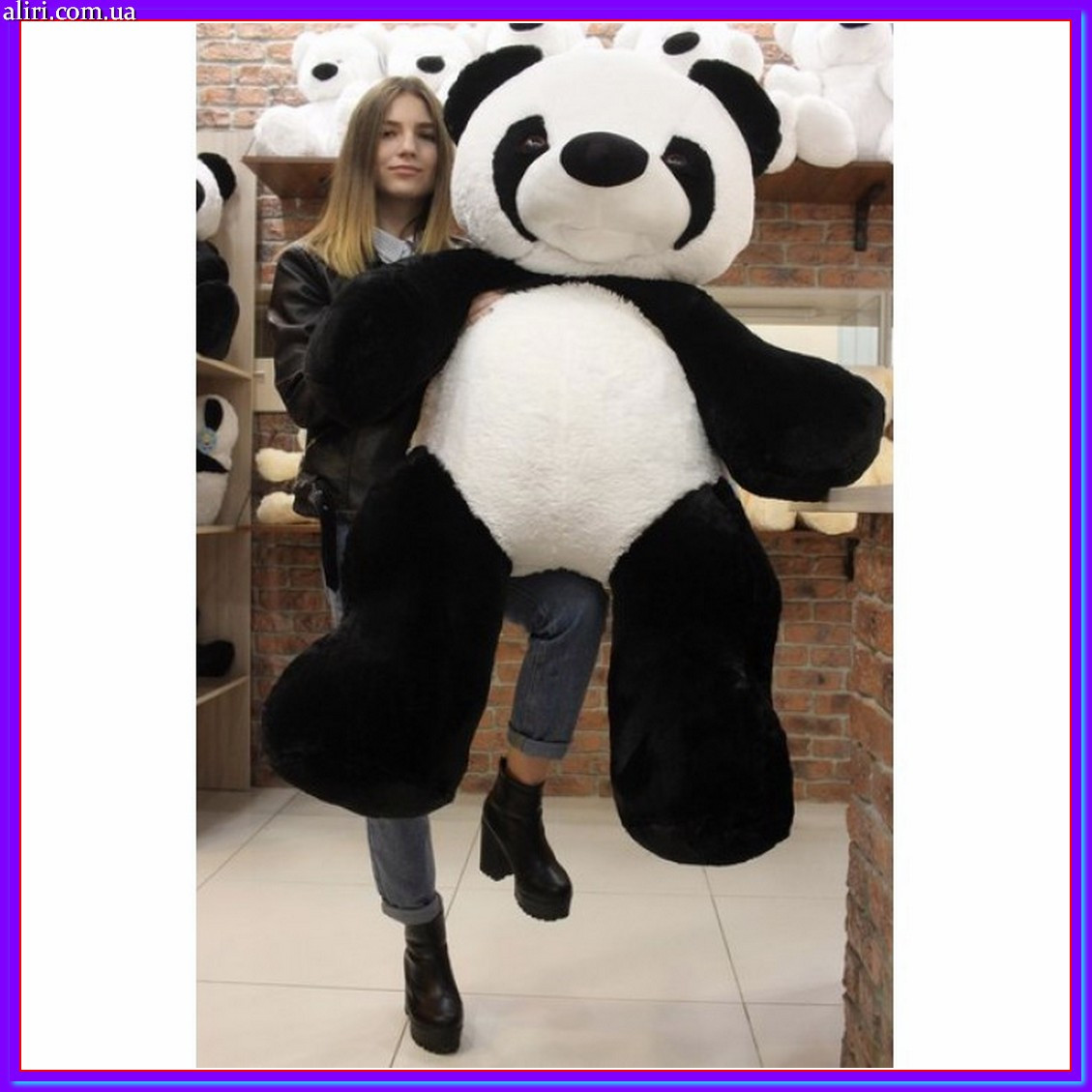 Оригинальная мягкая игрушка панда 135 см