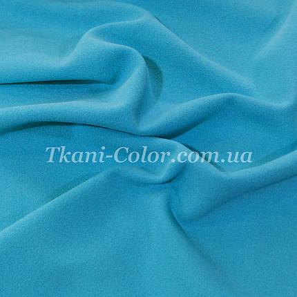Трикотаж креп дайвінг блакитна бірюза, фото 2