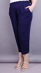 Миранда. Укороченные летние брюки плюс сайз. 58-60, 62-64