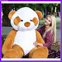 Огромный плюшевый мишка Панда мягкая игрушка 200 см коричневый цвет