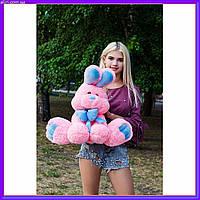 Мягкая игрушка кролик Бакс Банни 60 см розовый