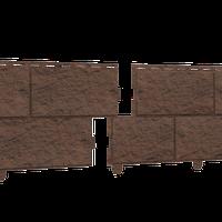 Фасадная панель Ю-ПЛАСТ Stone-House Камень Жженый (0,68 м2)