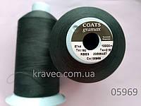 Текстурована нитка Coats gramax 05969/160/ 10000м темно зелений