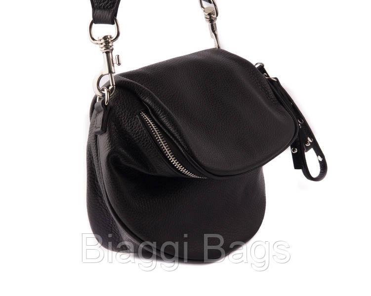 b829e5af23fa Женская стильная сумка на плечо Vera Pelle (2995) черная - Biaggi Bags в  Киеве
