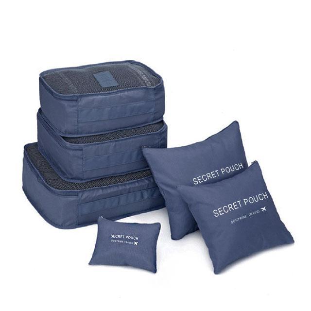 Набор сумочек в чемодан синий