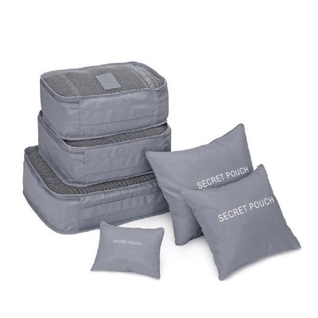 Набор сумочек в чемодан серый