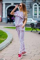05efc5b5d9a Женский повседневный летний спортивный костюм ткань трикотаж люрекс скл.1