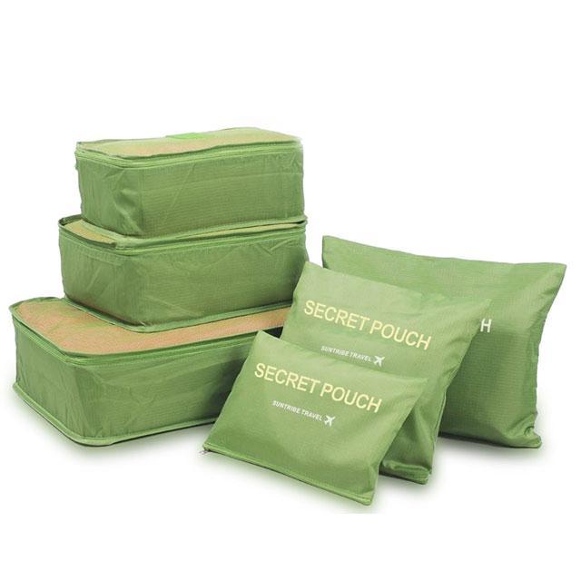 Набор сумочек в чемодан зеленый